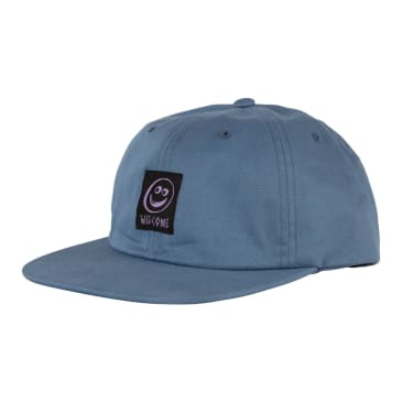 Welcome Skateboards Smiley Unstructured Snapback Hat - Slate