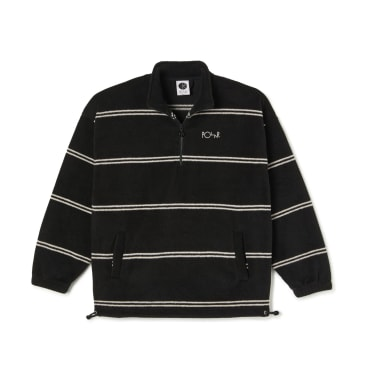 Polar Skate Co Stripe Fleece Pullover 2.0 - Black