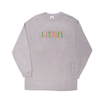 Alltimers Midtown LS Embroidered Tee Heather Grey