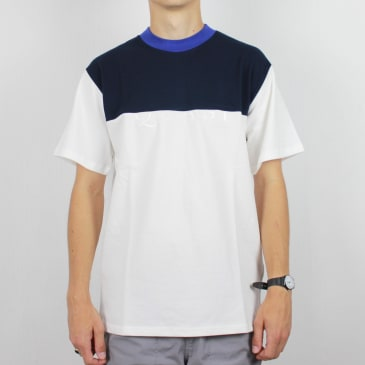 Quasi Pique Mid Weight T-Shirt Royal Blue/Navy/White