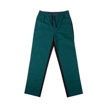 Welcome Skateboards Dark Wave Split-Colour Elastic Pants - Black / Dark Teal