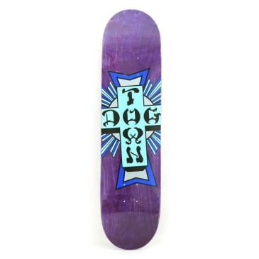 Dogtown Street Cross Logo Skateboard Deck Purple - 7.75