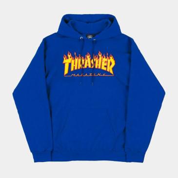 Thrasher Flame Logo Hoody Royal Blue