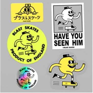 Blast Skateboards - Sticker Package