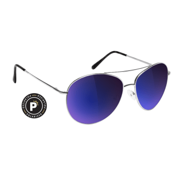 Glassy Daewon Polarized Silver/Blue Mirror