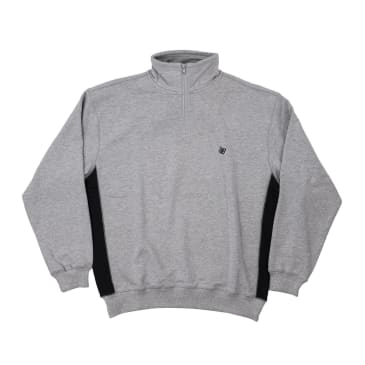 Bronze 56K Microdose 1/4 Zip Sweater - Heather Grey/Black