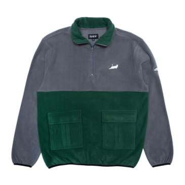 Ripndip - Rip N Dip Castanza Split Half Zip | Hunter/Grey