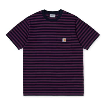 Carhartt WIP Parker Pocket T-Shirt - Dark Navy / Boysenberry