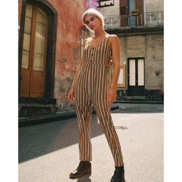 RVCA Women's Carlton Striped Jumpsuit