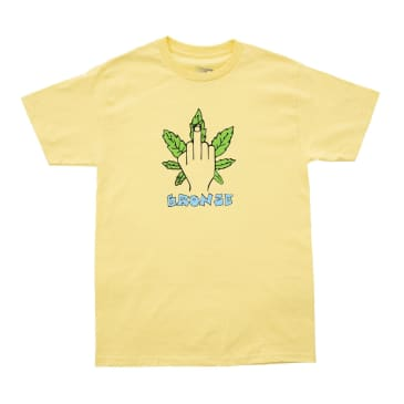 Bronze 56K Weed Finger T-Shirt - Banana