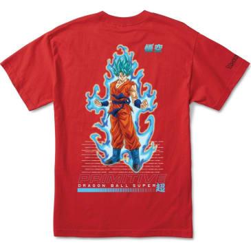 PRIMITIVE DBZ Super SSG Goku Tee Red