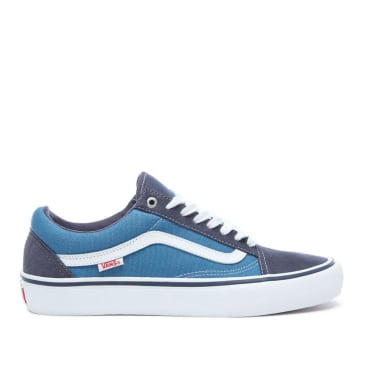 Vans Old Skool Pro Skate Shoes - Navy / White