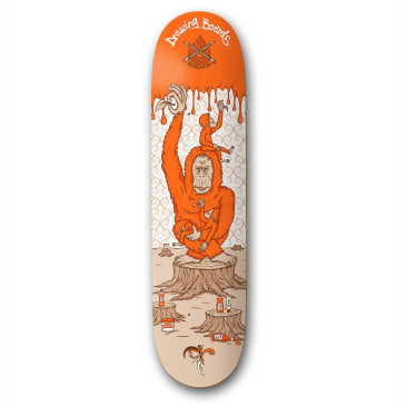 The Drawing Boards Orangutan Skateboard Deck 8.5""