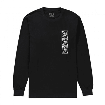 Polar Skate Co. Three Faces Long Sleeve T-Shirt - Black