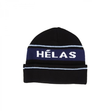 Hélas Knitted Beanie - Black / Navy