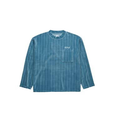 Polar Skate Co Velour Pullover - Grey Blue