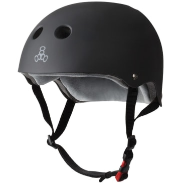 Triple Eight Certified Sweatsaver Helmet (Black Rubber)