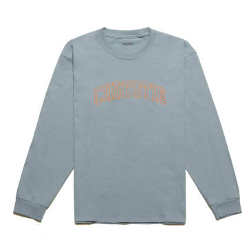Chrystie NYC - Collegiate Logo Long Sleeve Shirt / Stone Blue