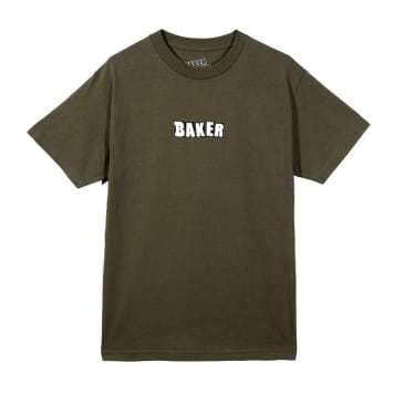 Baker Skateboards Brand Logo T-Shirt - Military Green