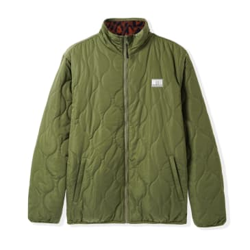 Butter Goods - Reversible Puffer Jacket - Army / Leopard