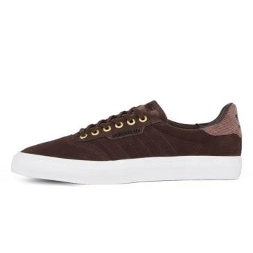 Adidas Skateboarding - 3MC Shoes - Brown / Footwear White / Gold Metallic