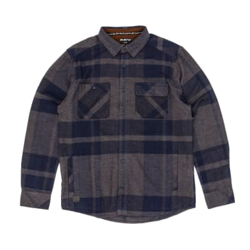 KAVU Baxter Long Sleeve Shirt - Navy