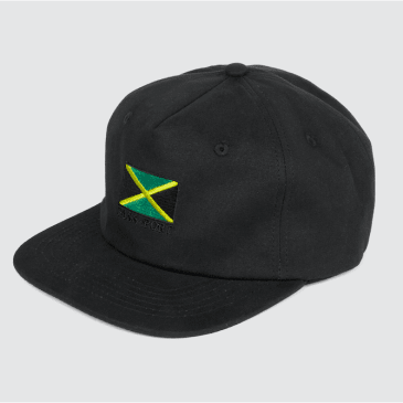 Passport Skateboards - Jamaica 5-Panel Cap (Black)