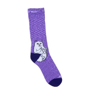 Rip N Dip Lord Nermal Socks - Purple Speckle