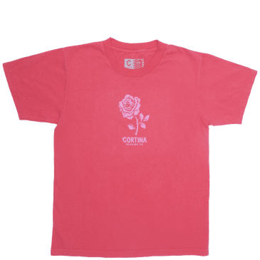 Cortina Bearing Co Rose T-Shirt - Red