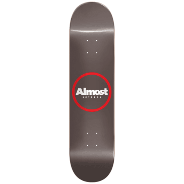 """Almost - 8.5"""" Red Ring Resin Deck - Warm Grey"""