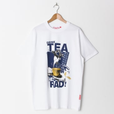 Lovenskate Drink Tea, Get Rad T Shirt White