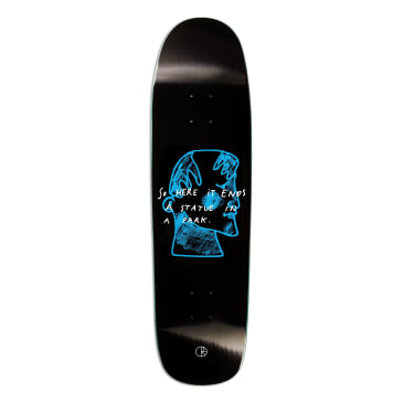 "Polar Skate Co. - 8.625"" P9 Shape I Prefer Marble Skateboard Deck (Black)"