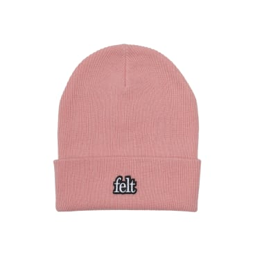 "FELT- ""GAUGE KNIT BEANIE"" (BLUSH PINK)"