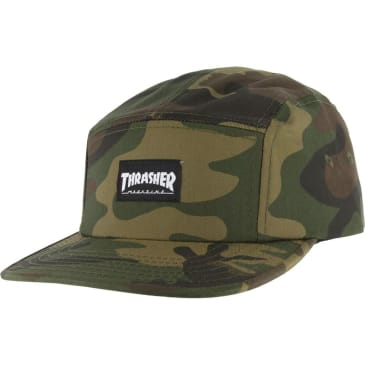 Thrasher 5 Panel Hat Camo