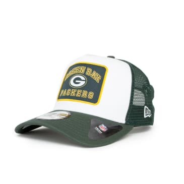 New Era Graphic Patch Green Bay Packers A-Frame Cap - White