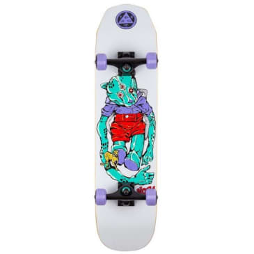 """Welcome Skateboards Teddy Complete on Scaled Down Wicked Princess Complete Skateboard 7.75"""""""