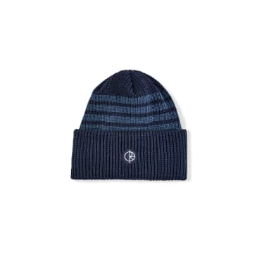 Polar Skate Co Double Fold Merino Beanie - Navy Stripe