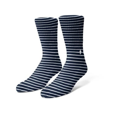 Girl Striped Socks - Navy