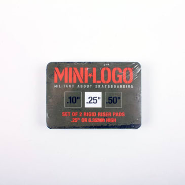 Mini Logo Risers 1/4 (.25)