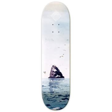 The National Skateboard Co Black Rock High Concave Deck - 8.125""