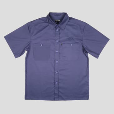 """PASS~PORT """"WORKERS BANNER"""" S/S SHIRT FRENCH NAVY"""