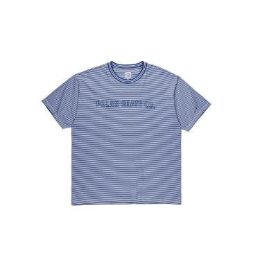 Outline Stripe Tee (Dark Blue)