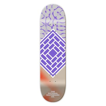 "The National Skateboard Co. - 8.125"" Classic Logo Deck (Purple)"