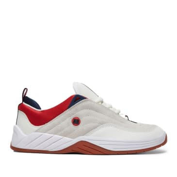 DC Williams Slim S Skate Shoes - White / Navy / Red