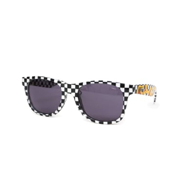 Vans Spicoli 4 Sunglasses - Black/White Check/Flame