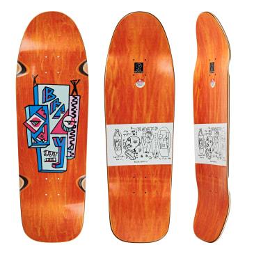 """Polar Skate Co Dane Brady Skyscraper Orange Skateboard Deck - 9.75"""" Dane 1 Special Shape"""
