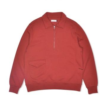 POP Trading Company Heavyweight Sportswear Company Half-Zip - Pepper Red