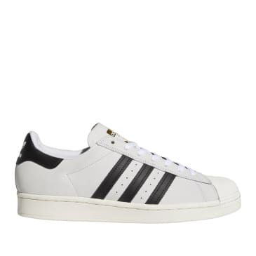adidas Skateboarding Superstar ADV Shoes - FTWR White / Core Black / Gold Met