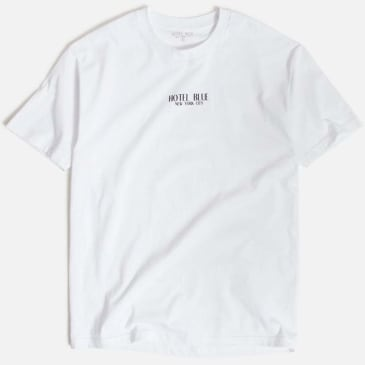 Hotel Blue Logo T-Shirt - White
