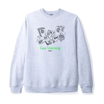 Butter Goods Easy Listening Crewneck - Heather Grey
